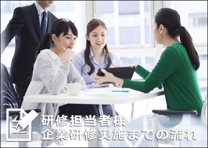 企業研修講師派遣実施までの流れ